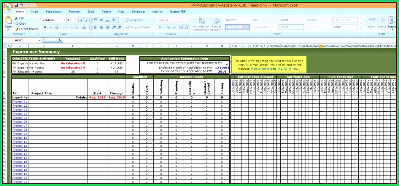 Project Management Template Google Sheets