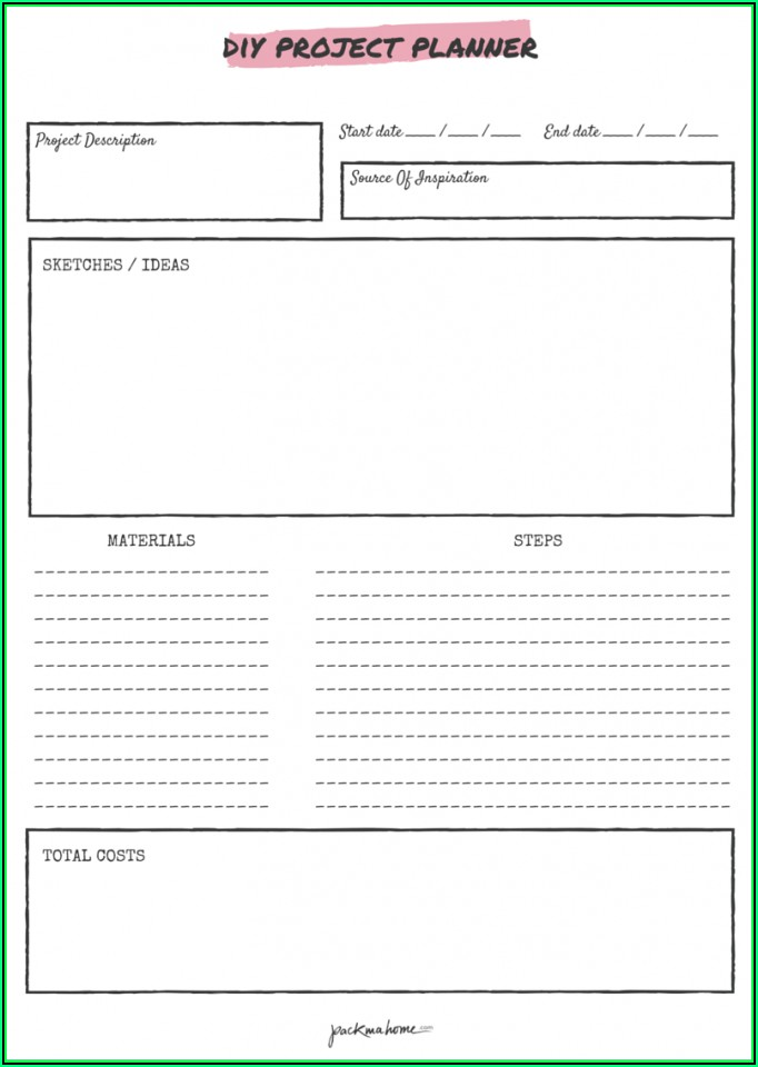 Project Plan Template Excel Free Download Xlsx