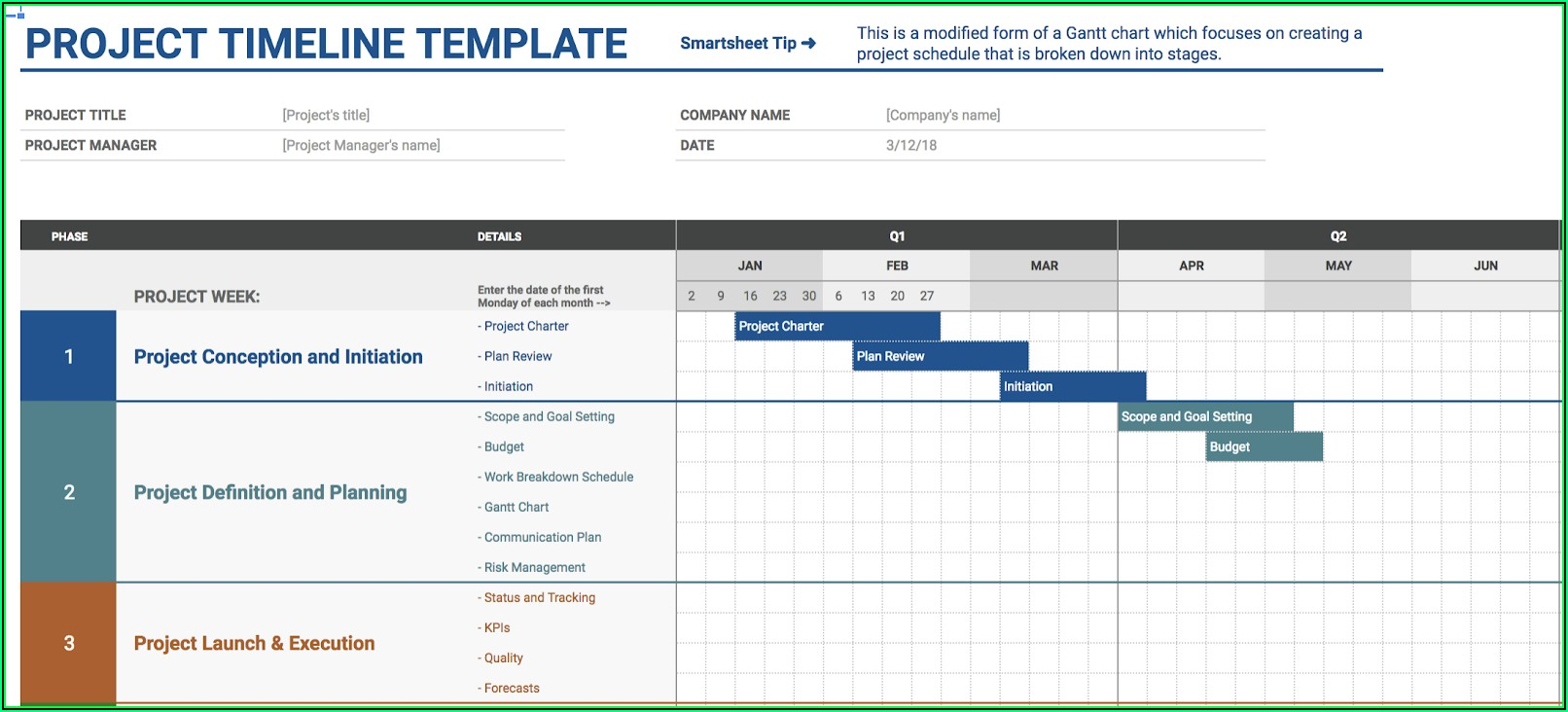 Project Tracking Template Google Sheets