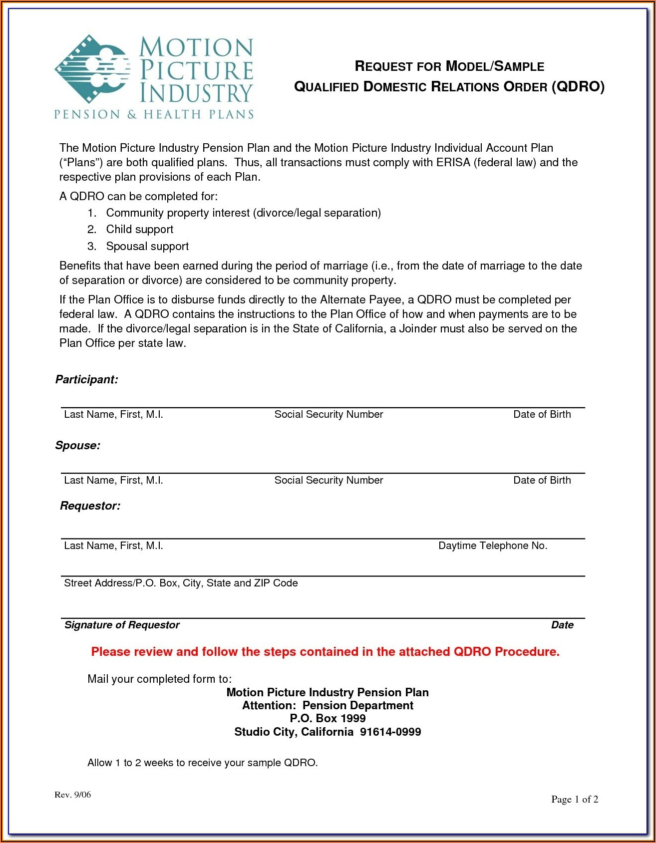 Qdro Forms Download