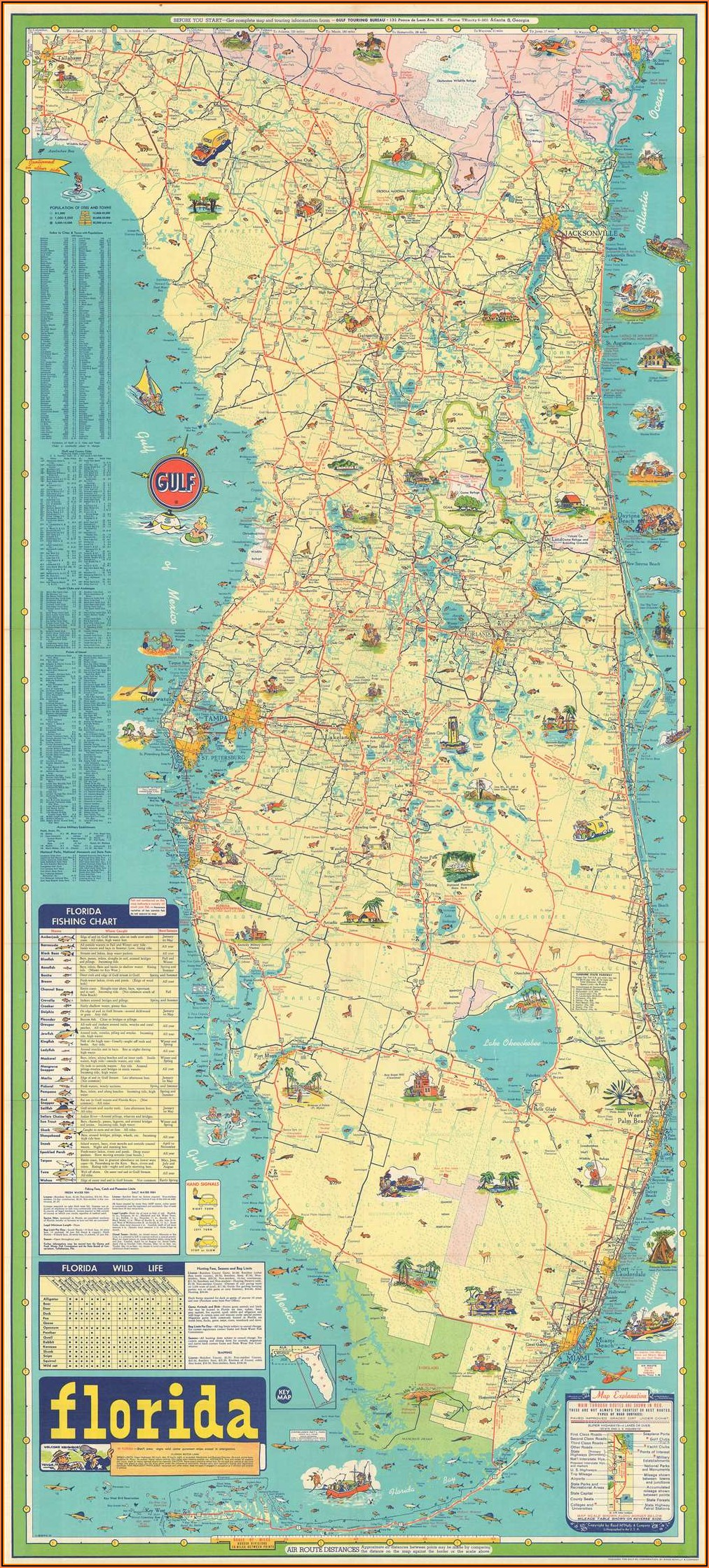 Rand Mcnally Florida Road Map
