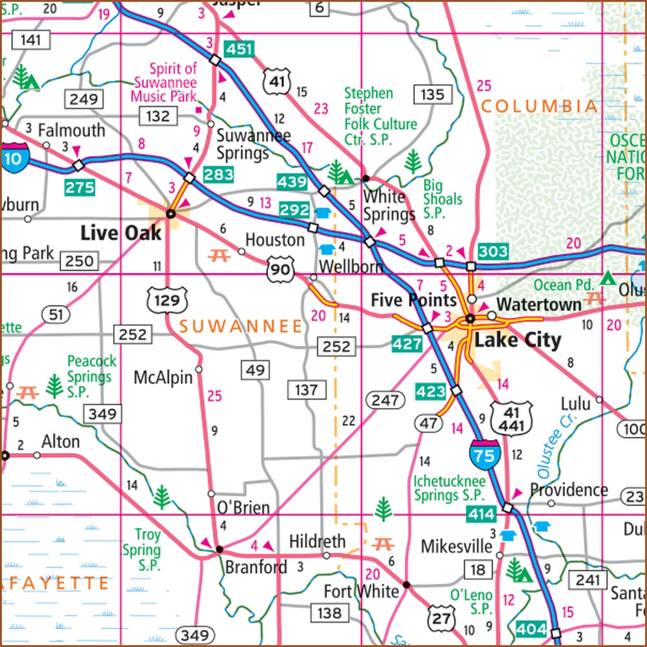 Rand Mcnally Florida State Map