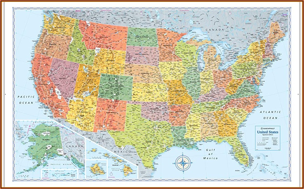 Rand Mcnally Laminated State Maps