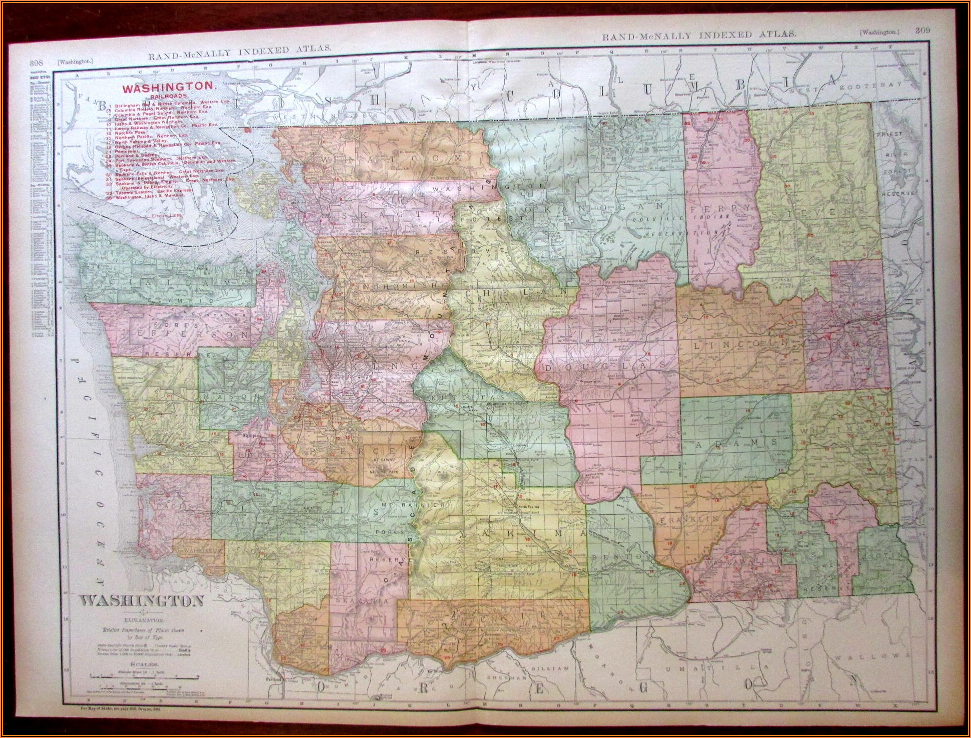 Rand Mcnally Washington State Map