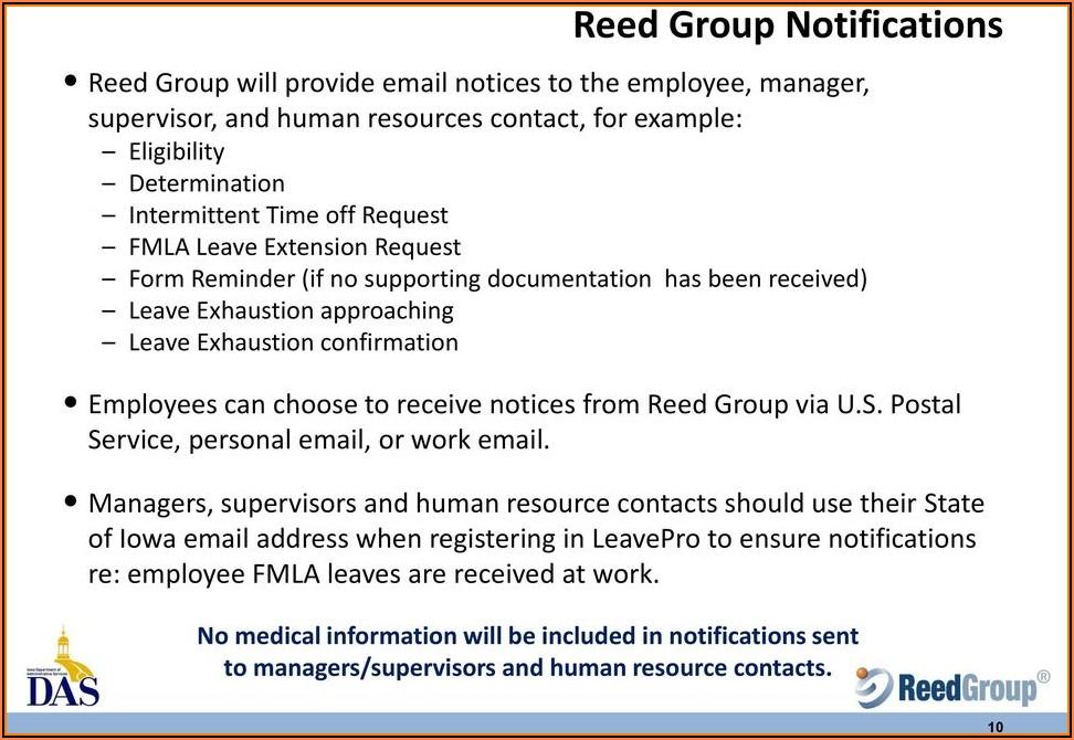 Reed Group Fmla Paperwork