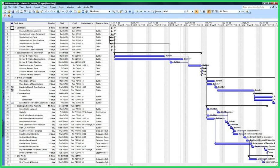 Renovation Timeline Template Excel
