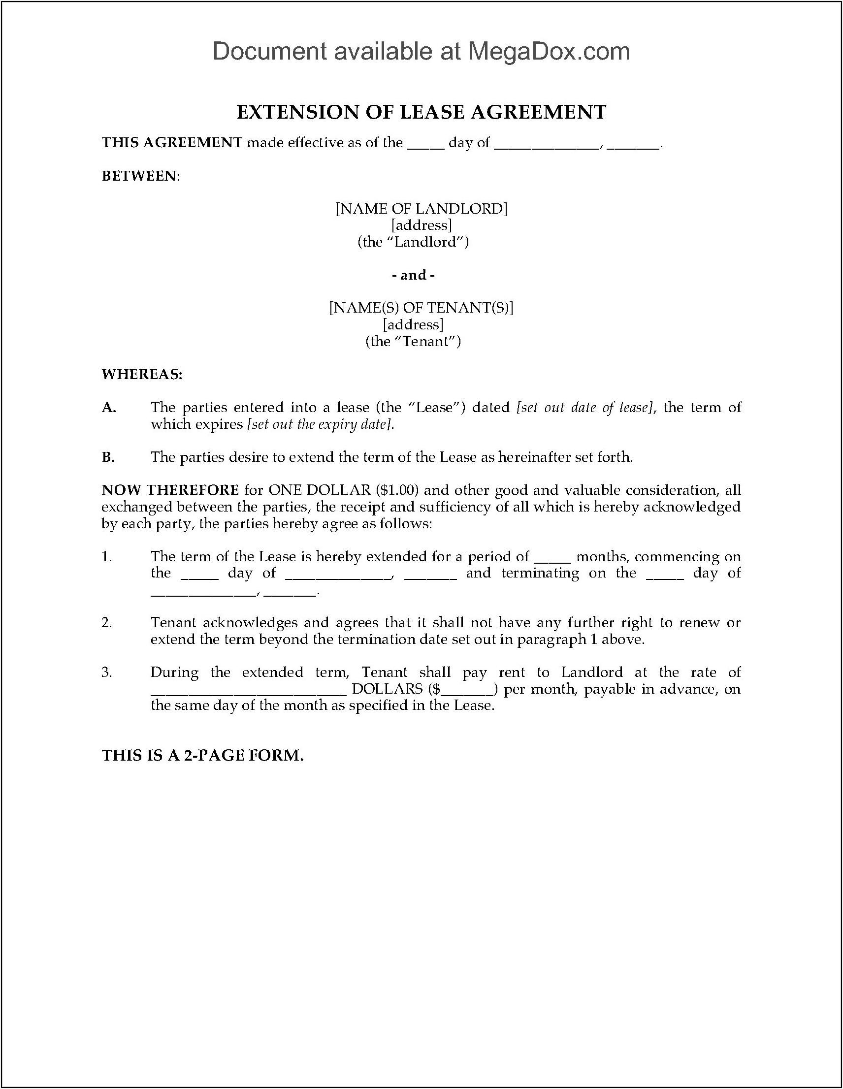 Rental Lease Agreement Form Alberta