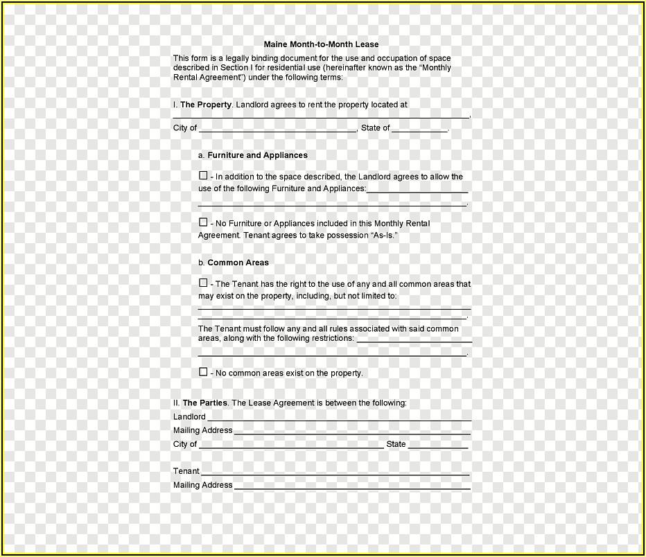 Rental Lease Agreement Form California
