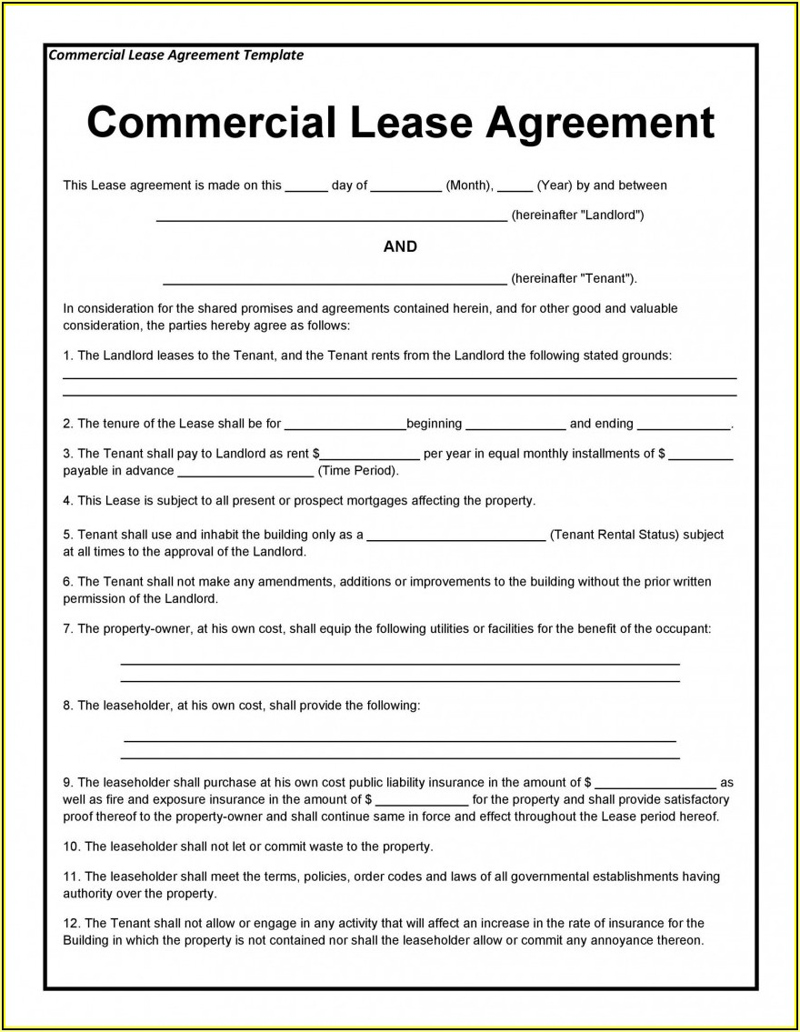 Rental Lease Agreement Form Quebec