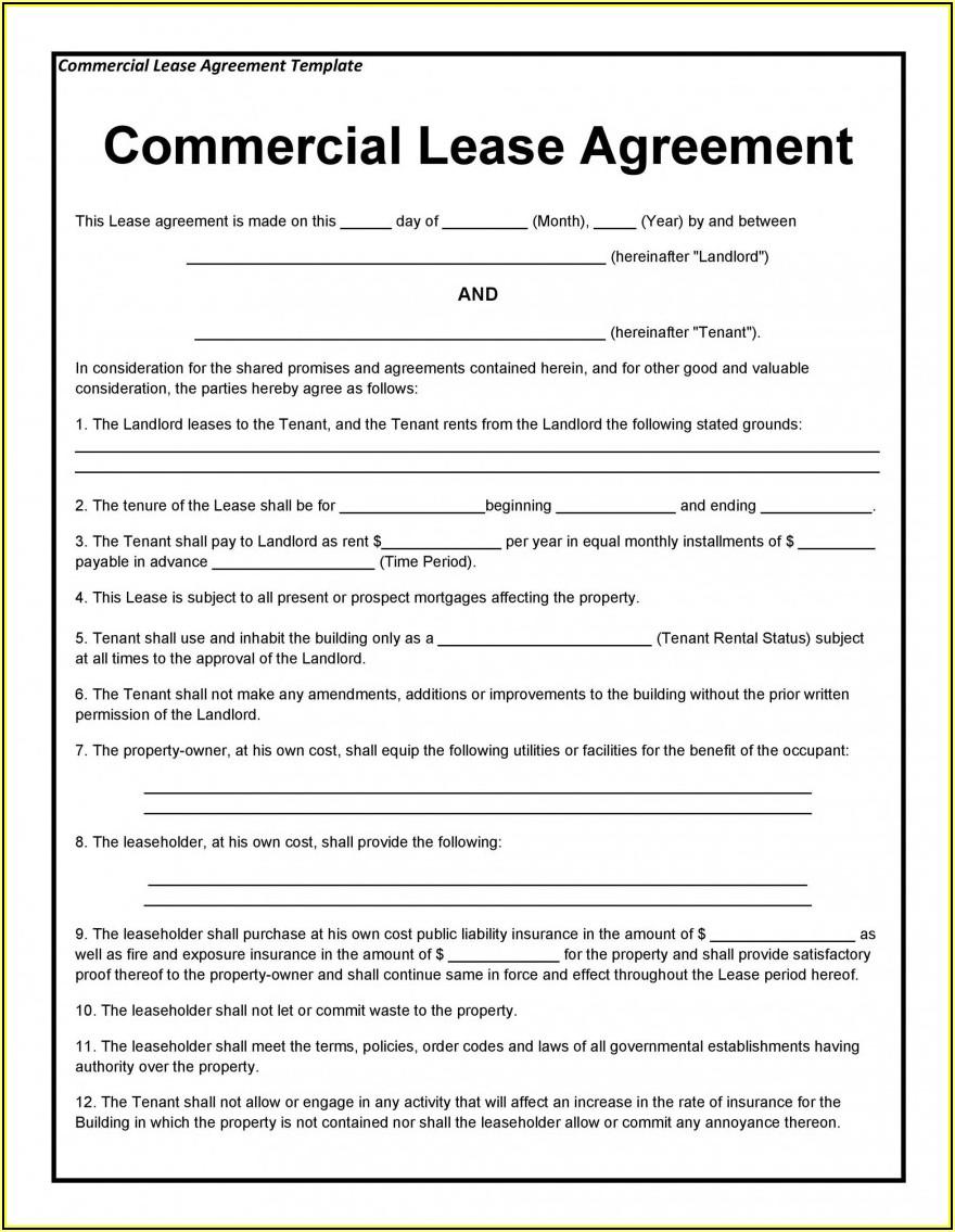Rental Lease Agreement Form Quebec