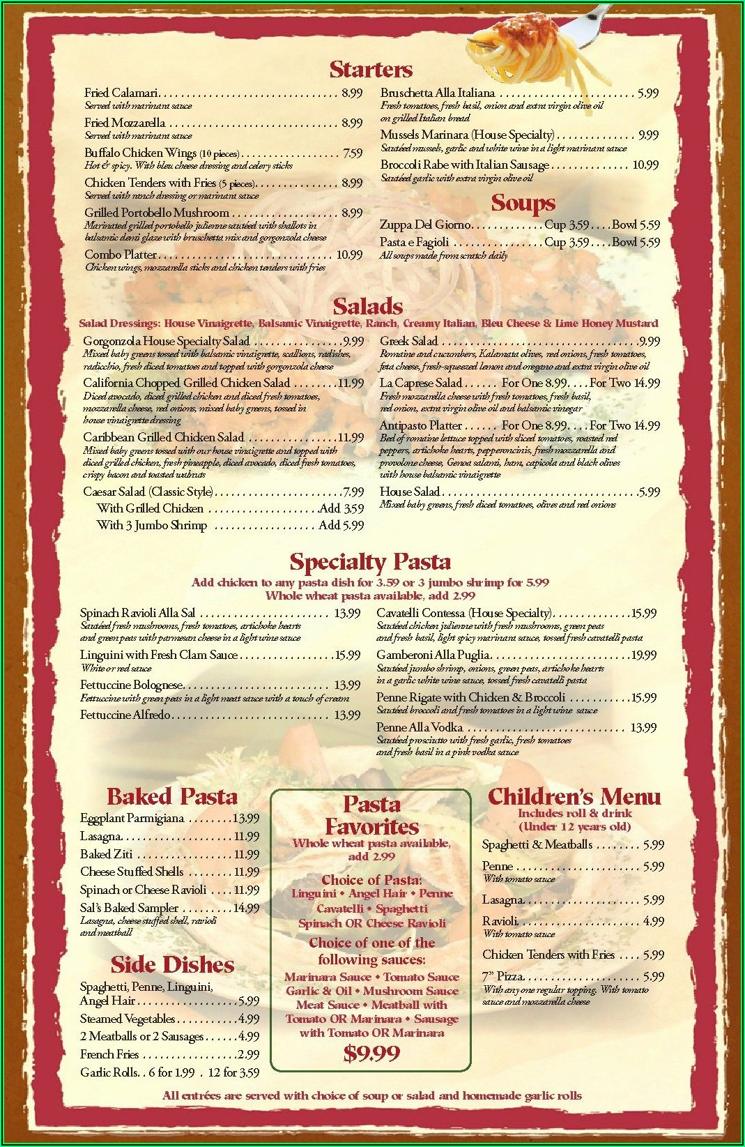 Restaurant Menu Template Word Free