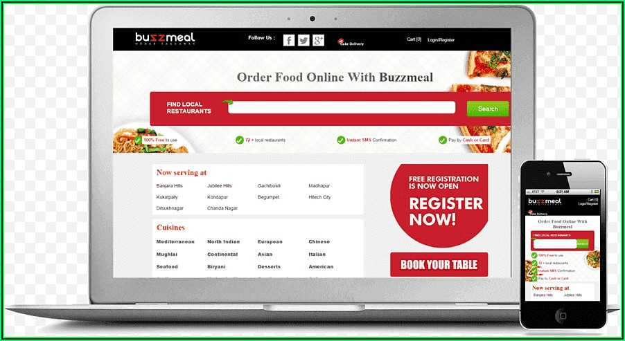 Restaurant Menu Template WordPress