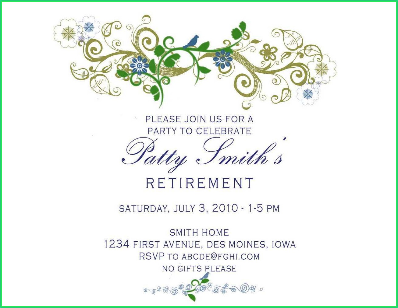 Retirement Invitation Maker