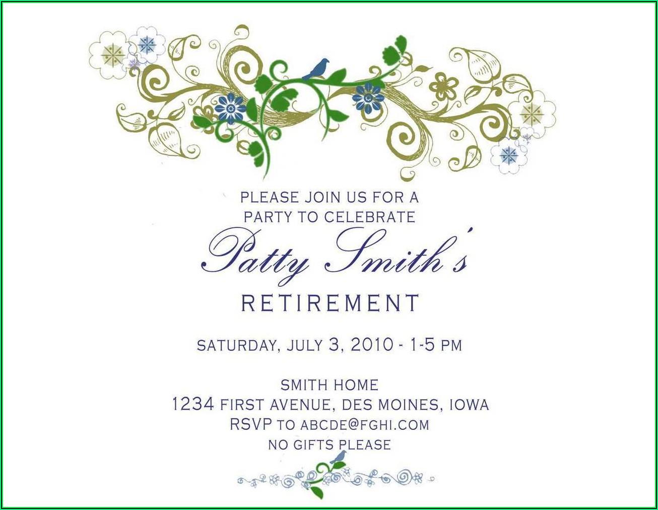 Retirement Invitation Maker