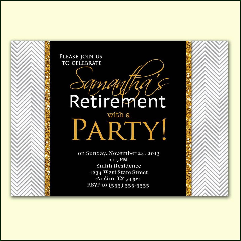 Retirement Invitation Templates For Word