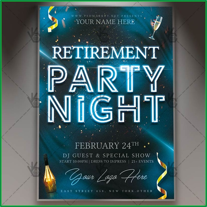 Retirement Party Template Flyer
