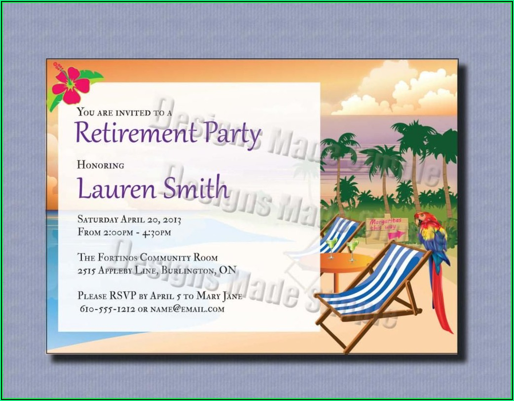 Retirement Party Template Free Word