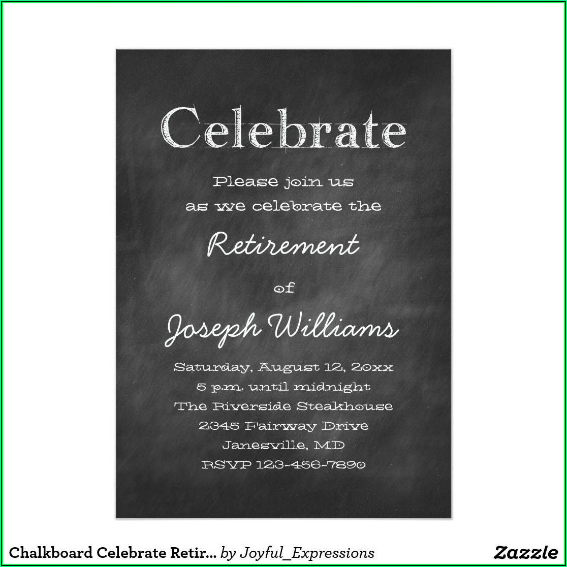 Retirement Party Template Invitation
