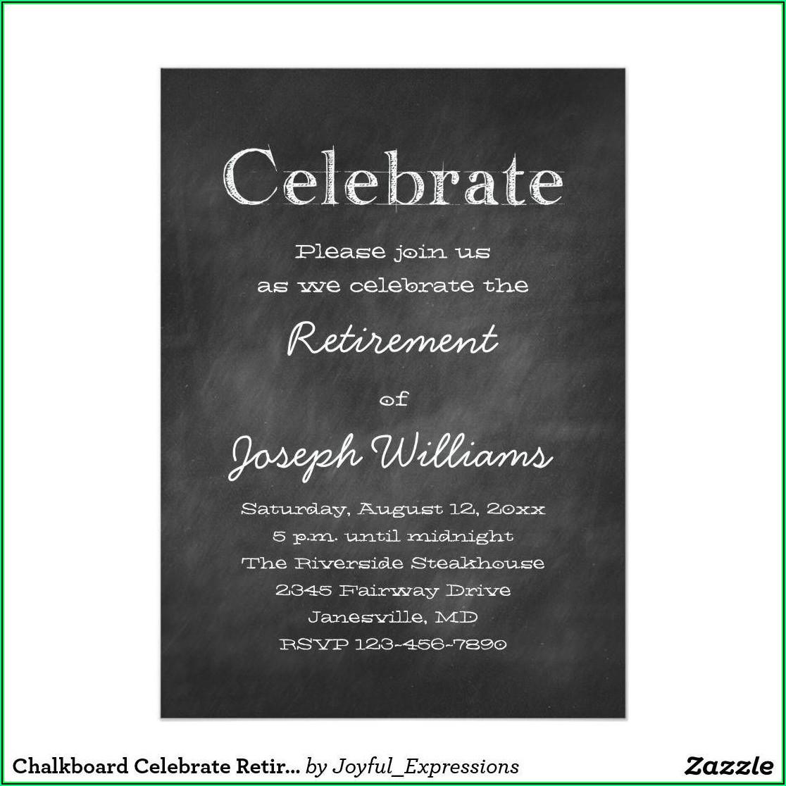 Retirement Party Template Invitation
