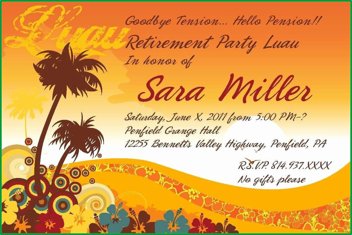 Retirement Party Template Microsoft Word