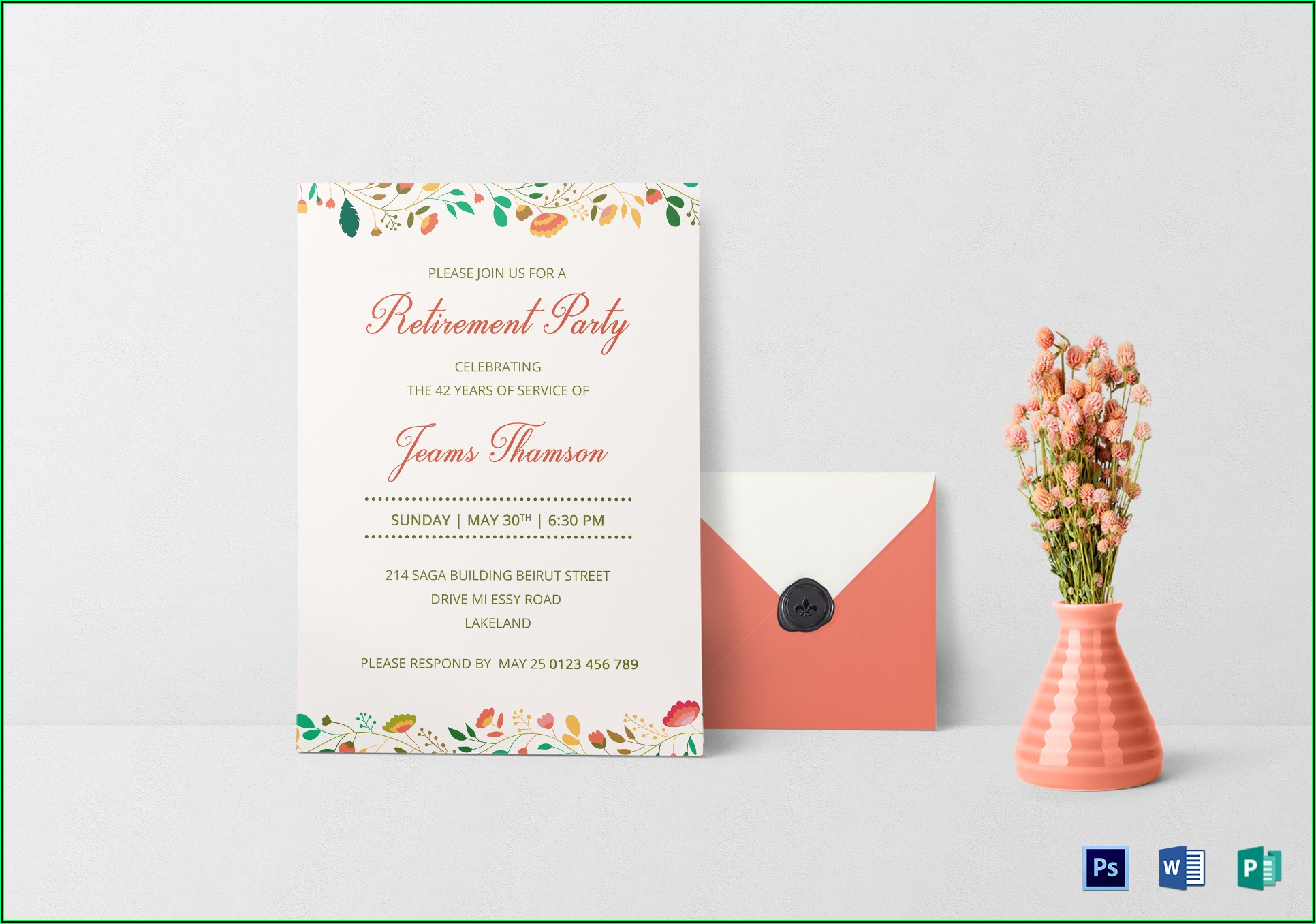 Retirement Party Template Publisher