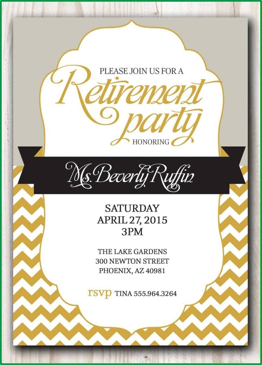 Retirement Party Templates Editable