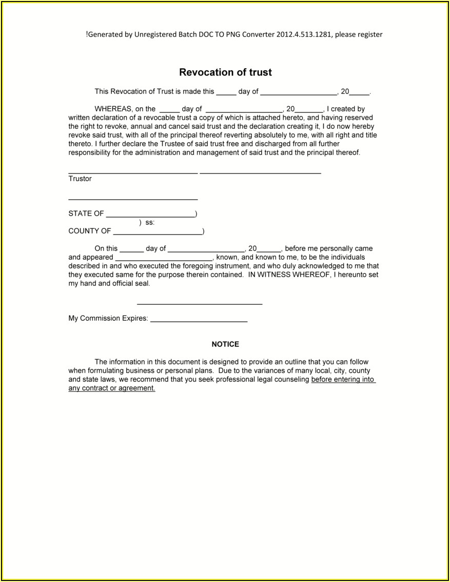 Revocable Living Trust Florida Form