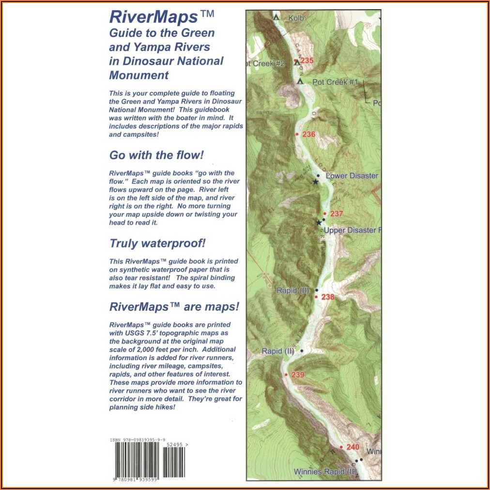 River Maps Colorado River In The Grand Canyon 7th Ed. Guide Book