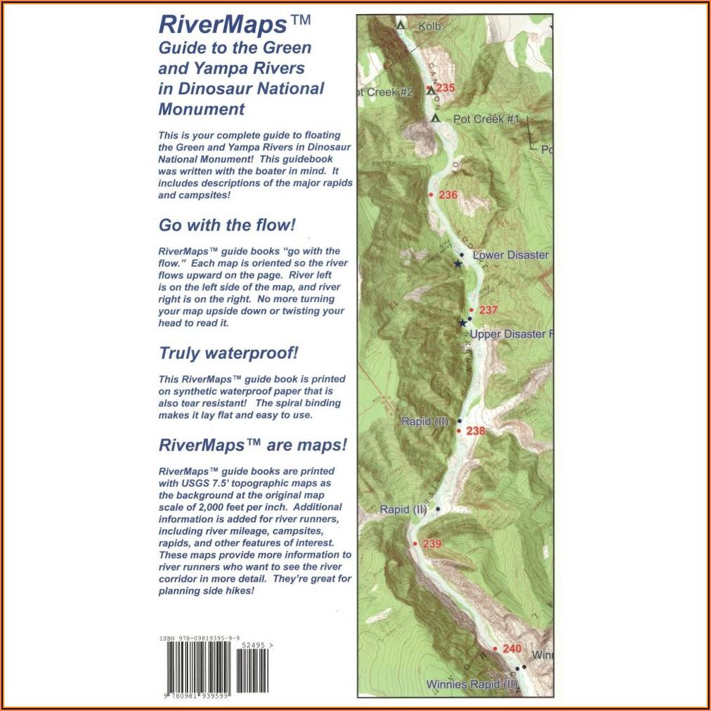 River Maps Colorado River In The Grand Canyon 7th Ed. Guide Book
