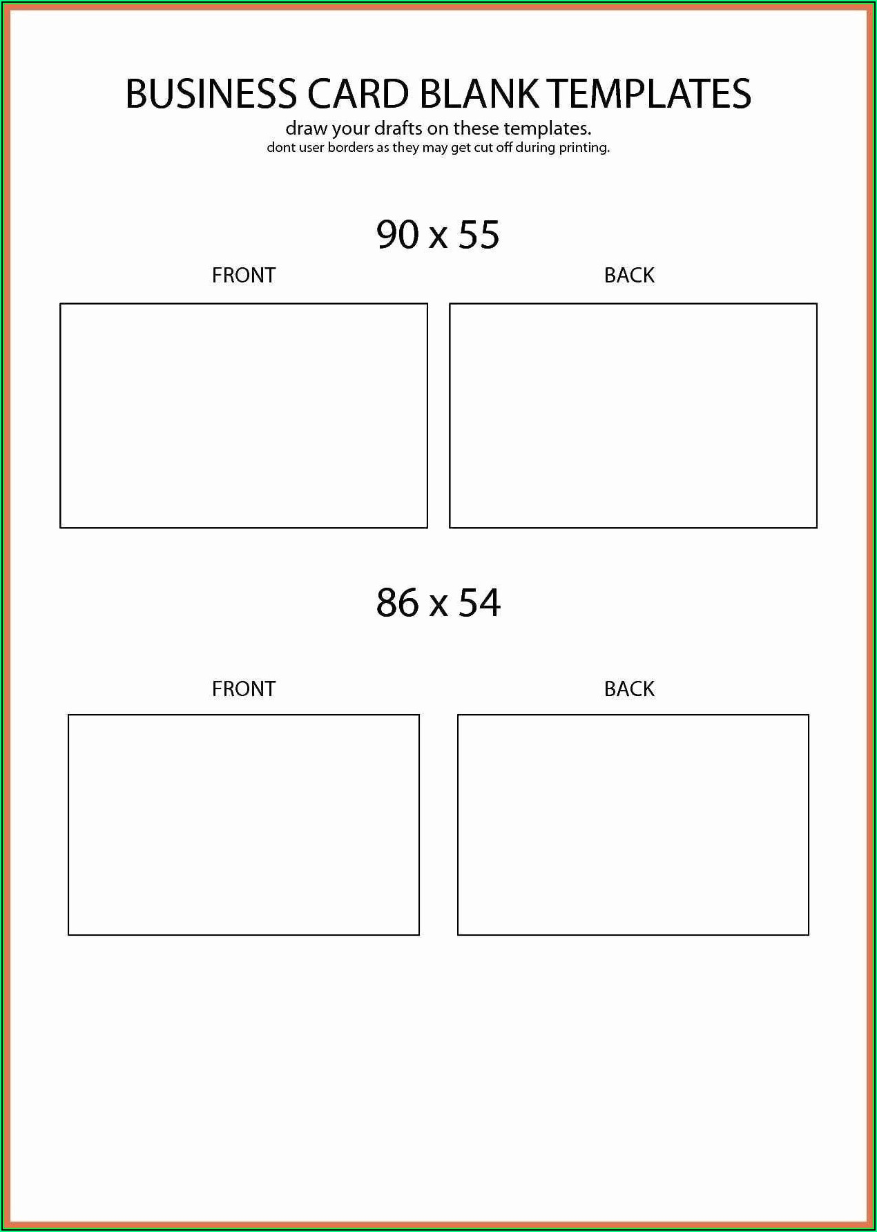 Royal Brites Business Cards Word Template