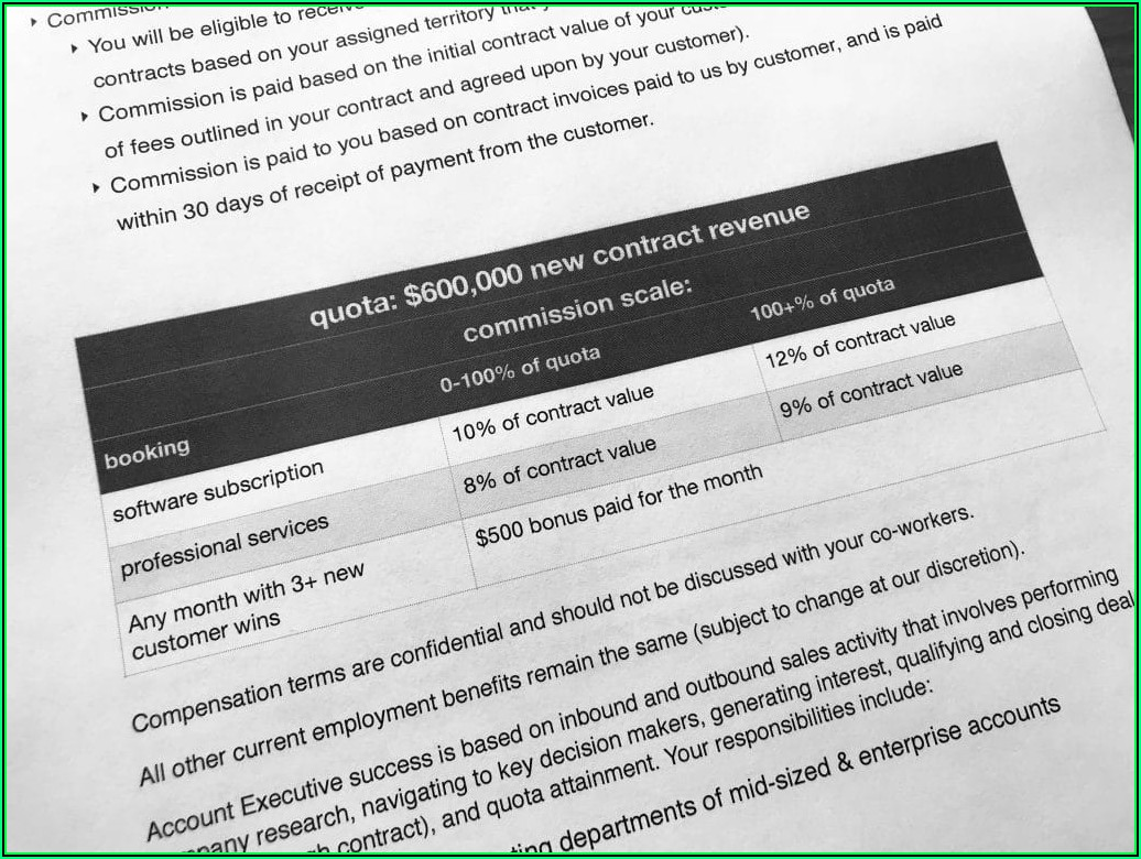 Saas Sales Compensation Plan Template