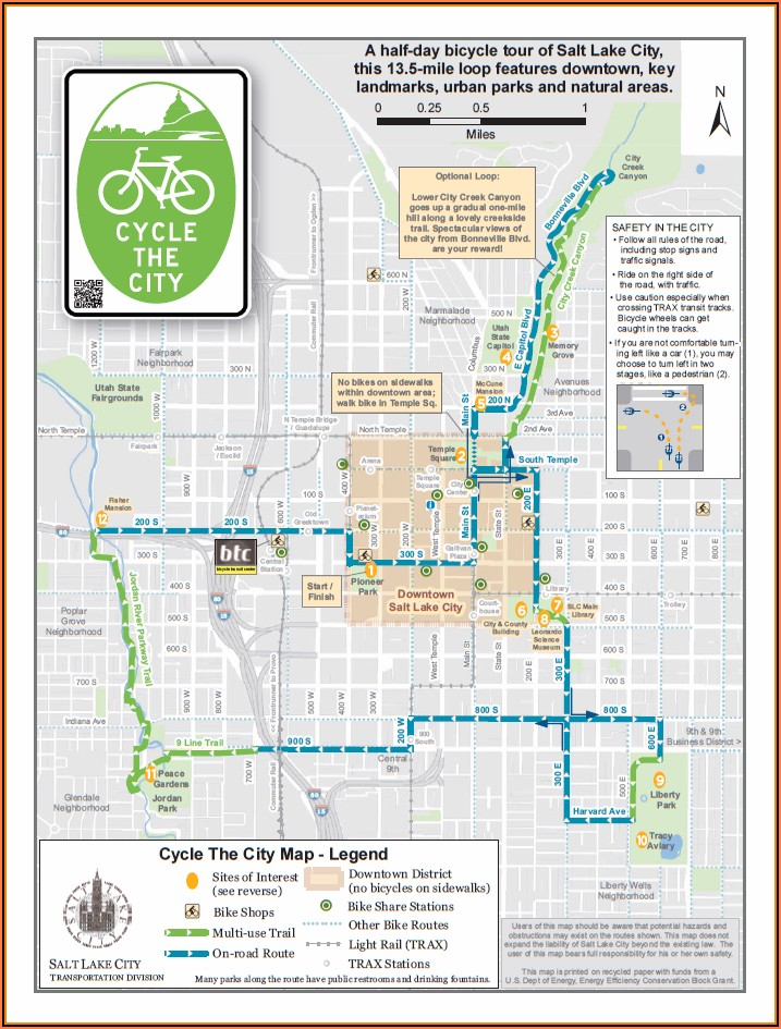 Salt Lake City Downtown Hotels Map