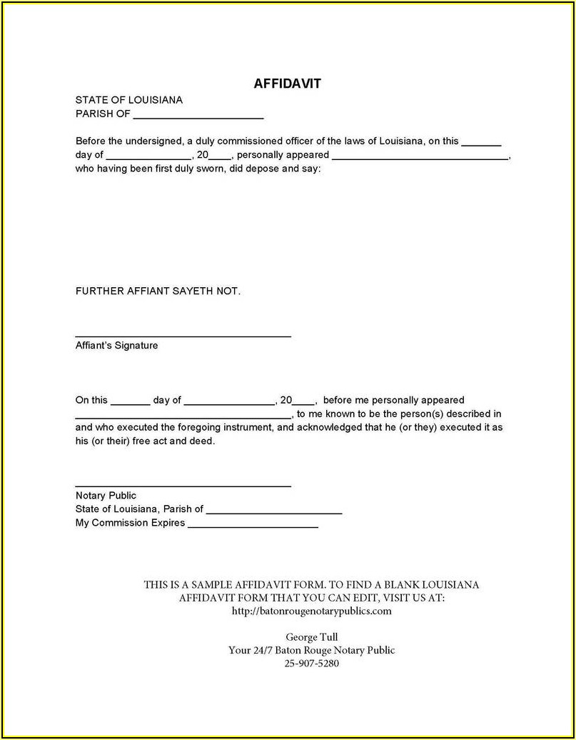 Small Estate Affidavit Florida Form