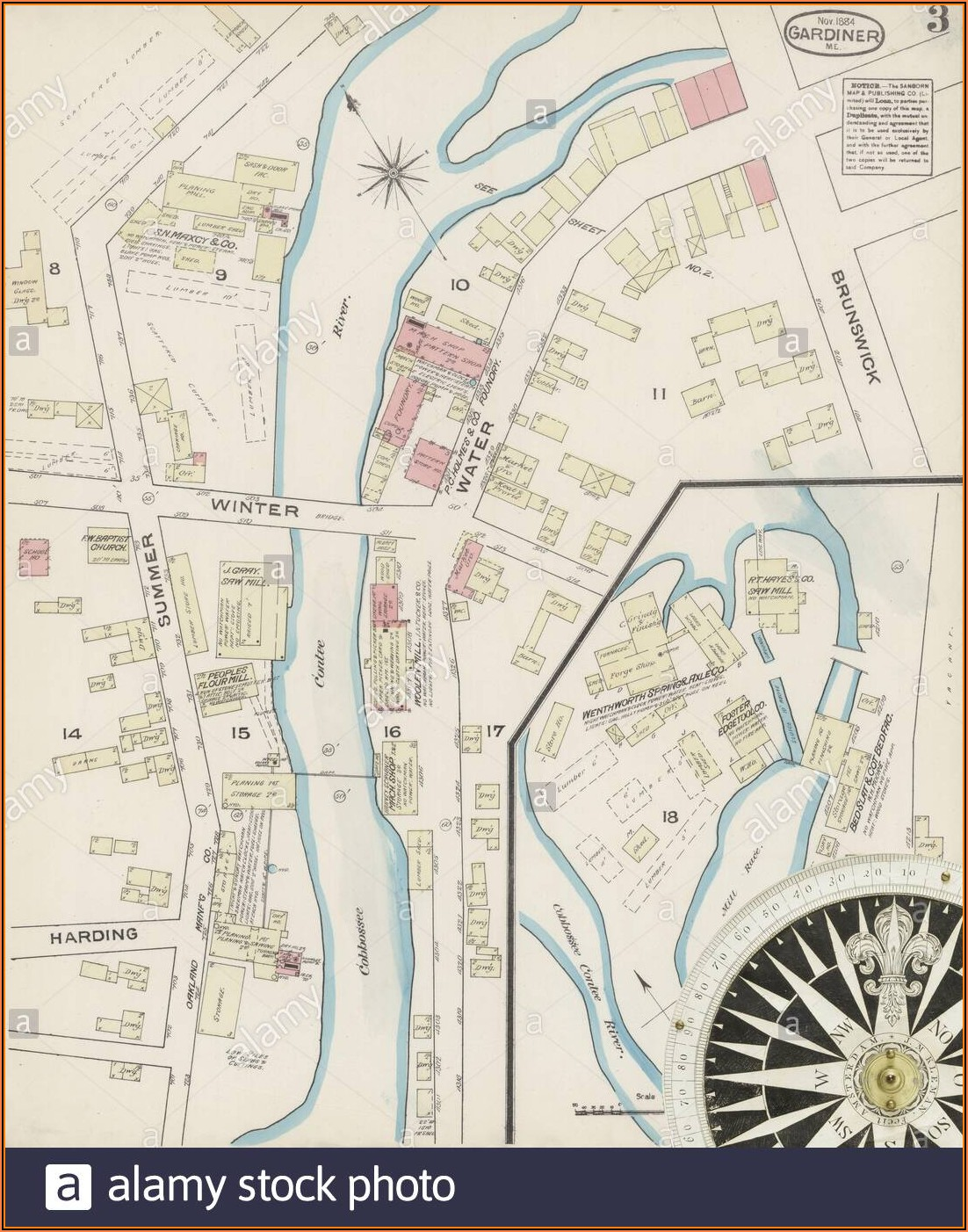 Street Map Of Gardiner Maine