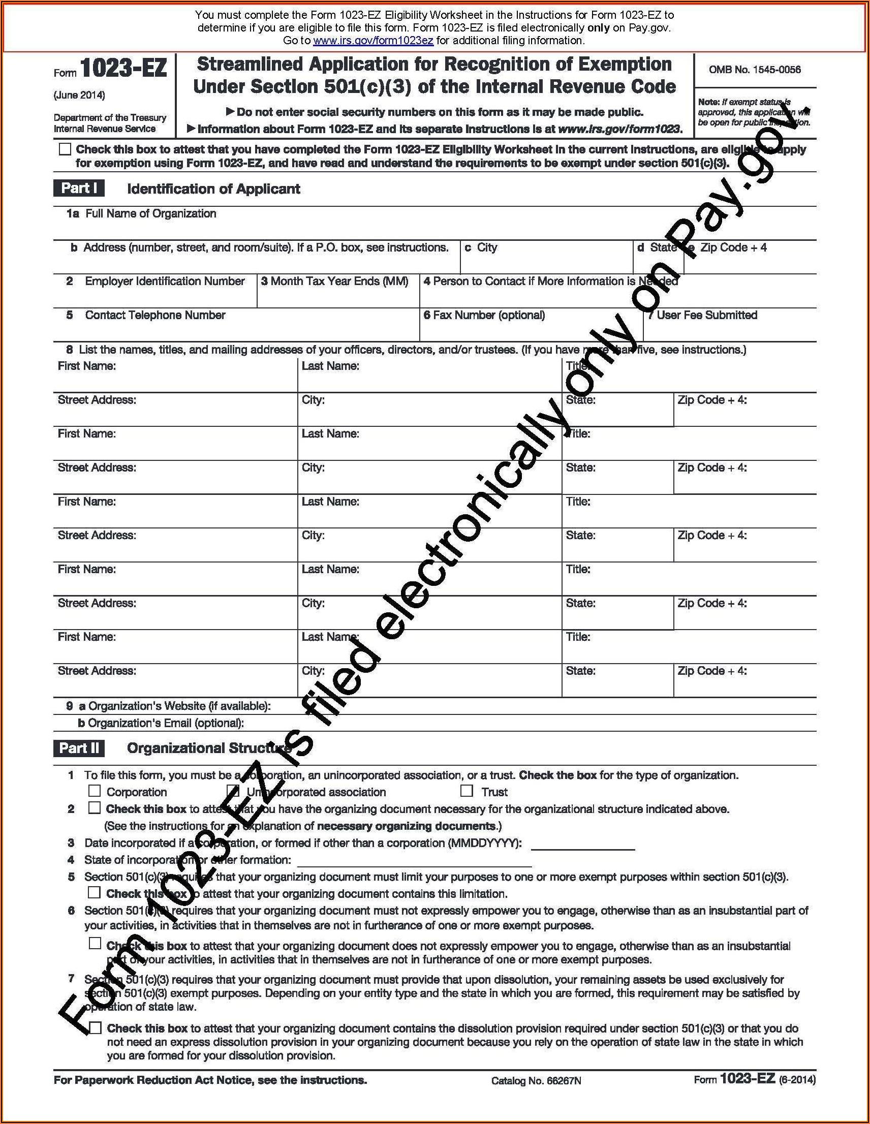 Tax Filing For 501 C 3 Organizations