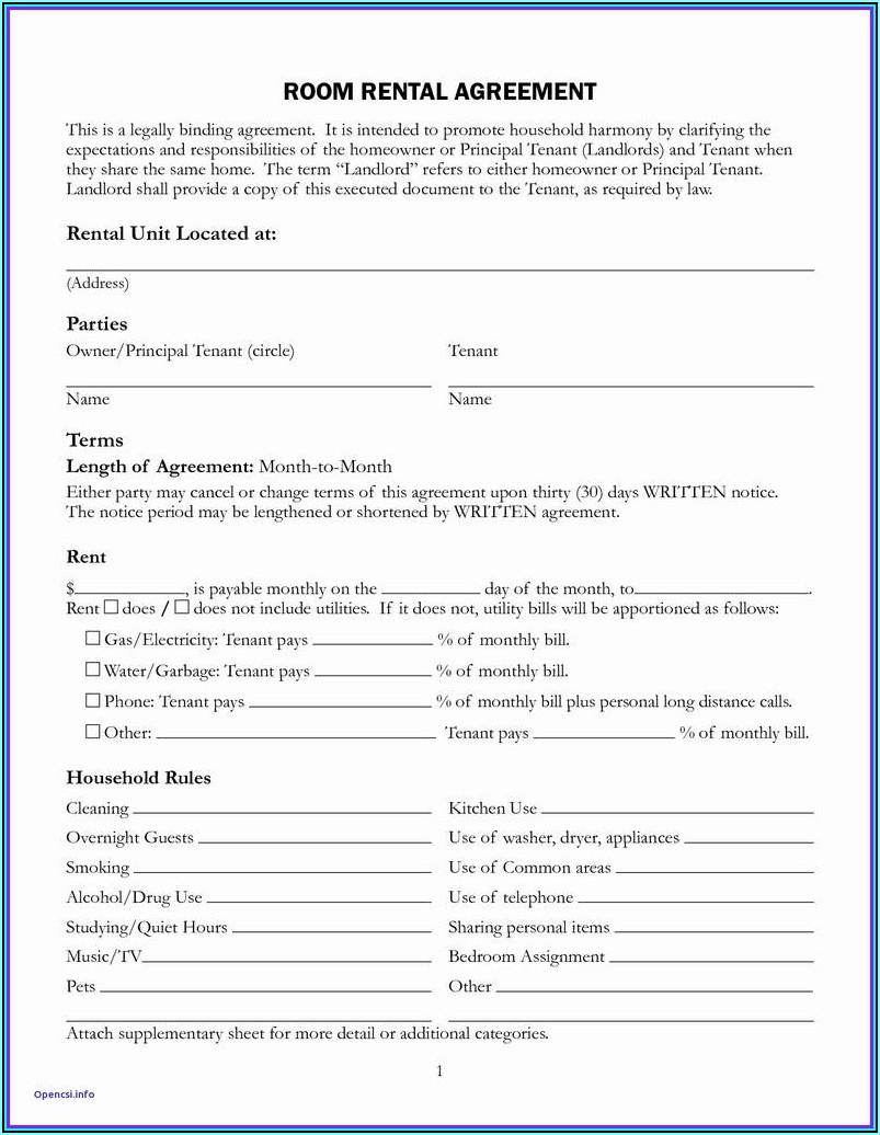 Texas Rental Lease Application Form