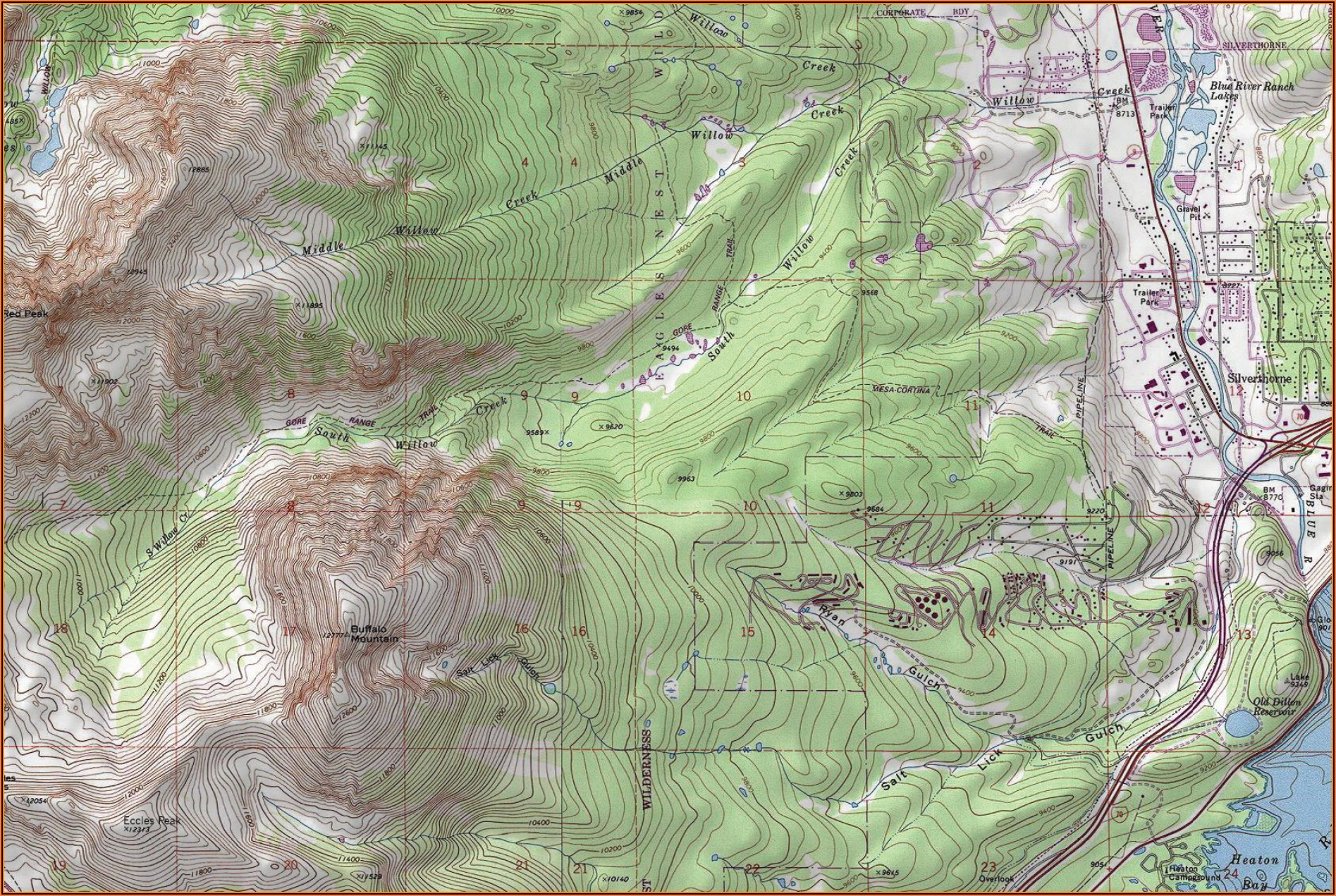 Topo Map Of Colorado Free