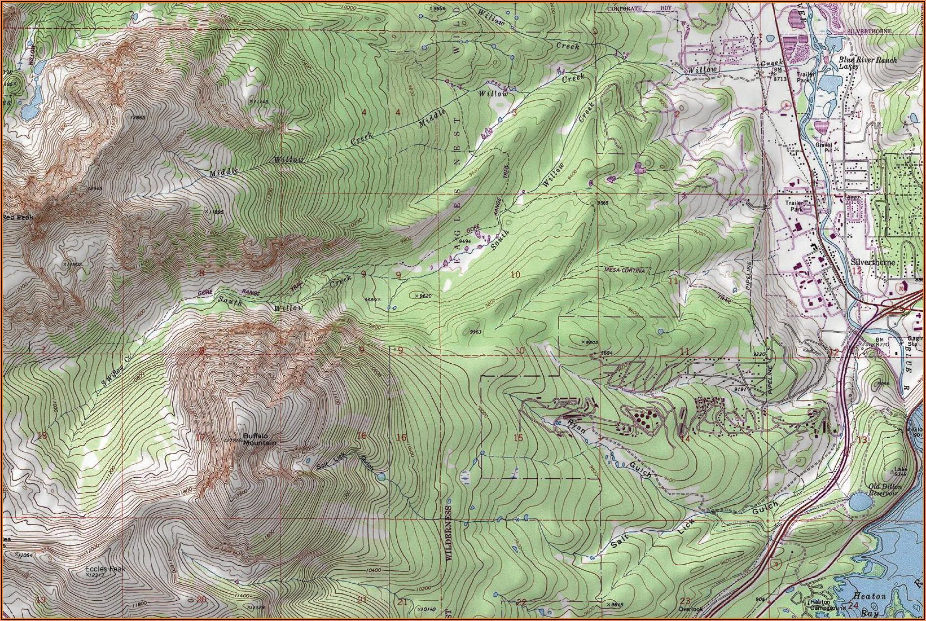 Topo Map Of Colorado Free