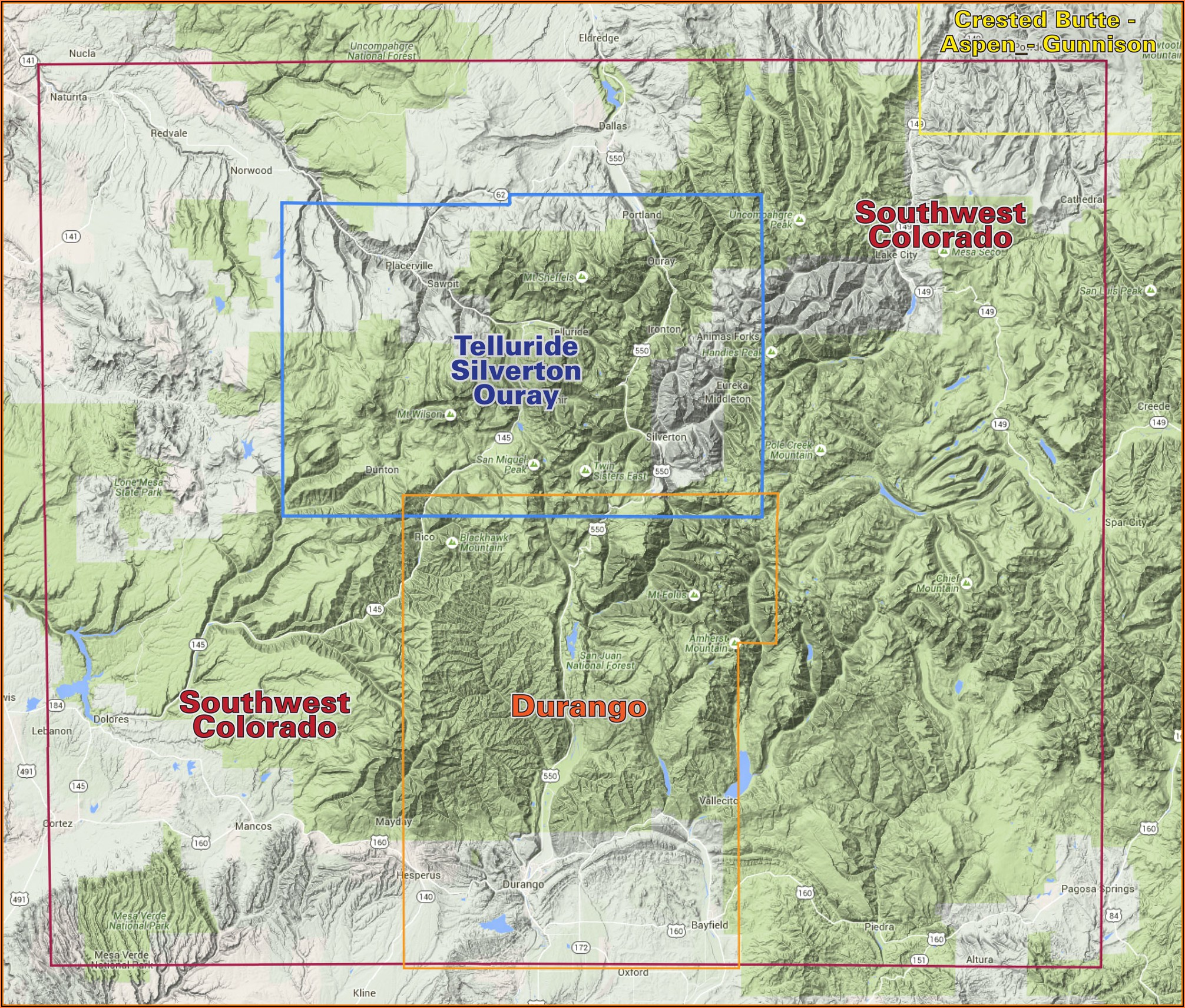 Topo Map Of Colorado Springs