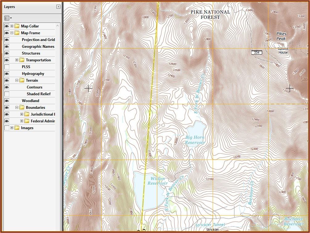 Topo Maps Of Colorado Hunting