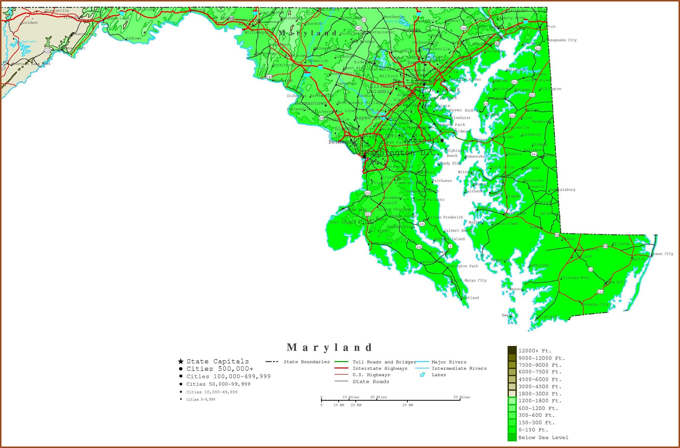 Topographic Maps Maryland Online