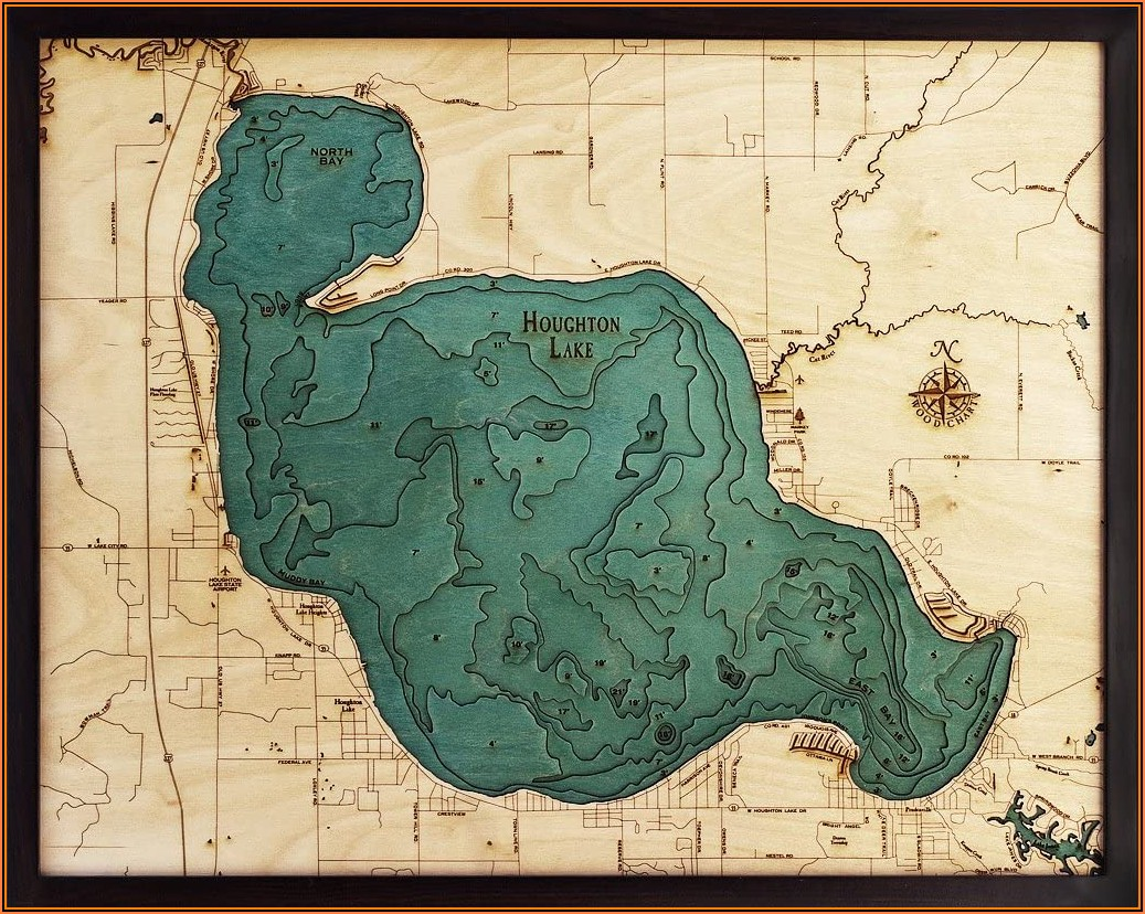 Topographic Maps Of Michigan Lakes