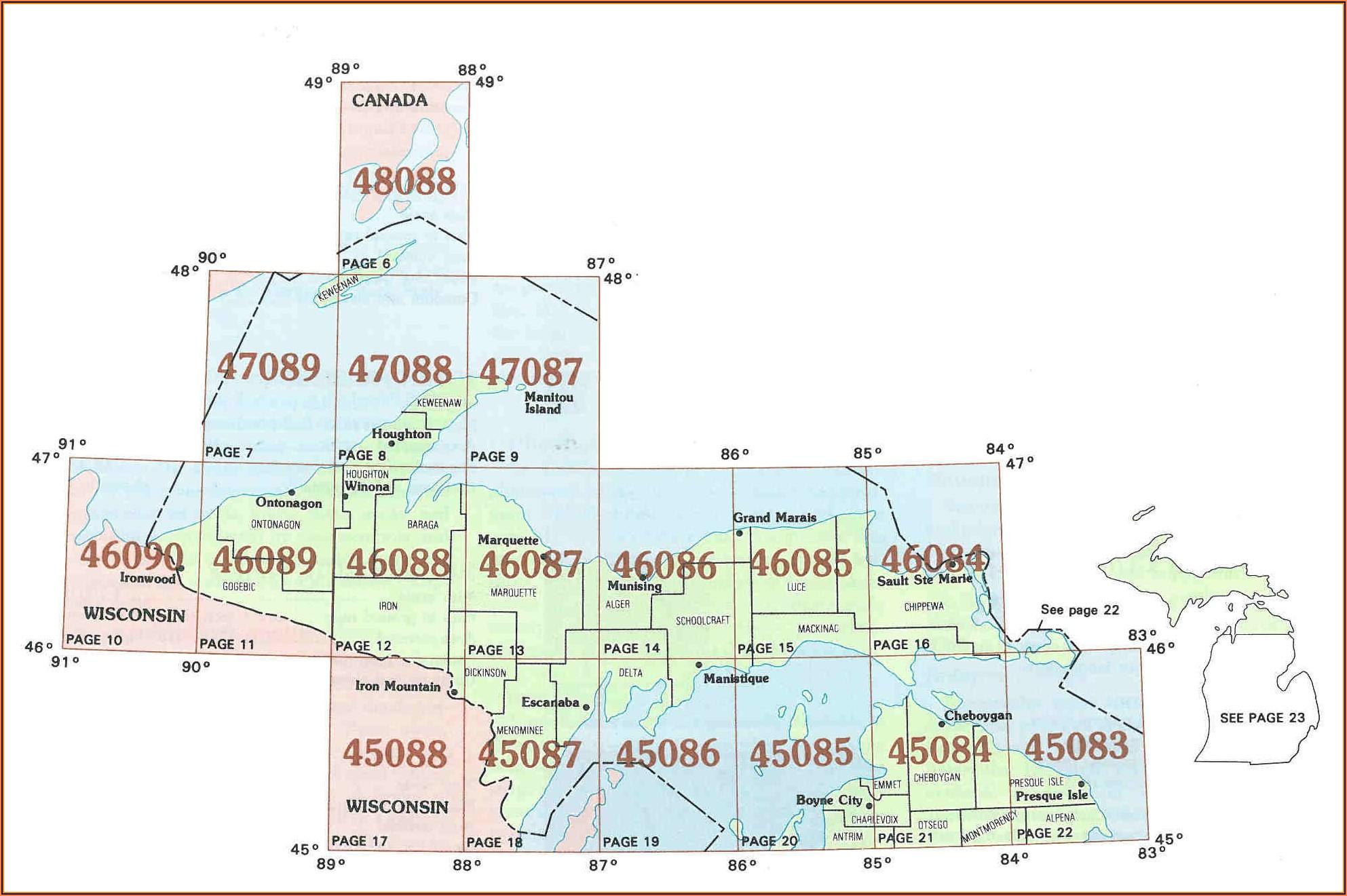 Topographic Maps Upper Michigan