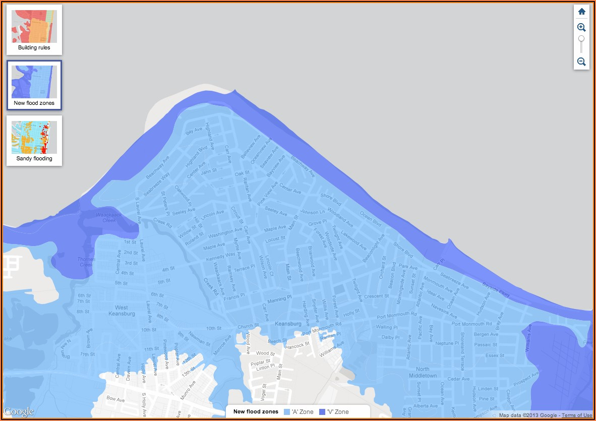 Union Beach Nj Flood Zone Map