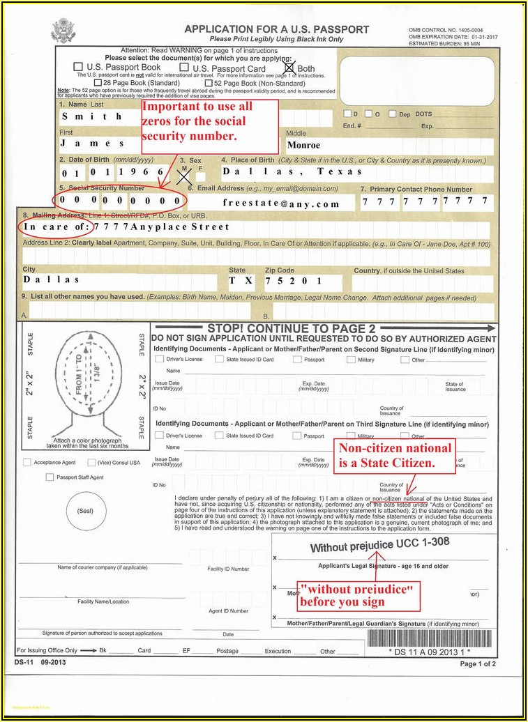 Us Passport Form Ds 11 Online