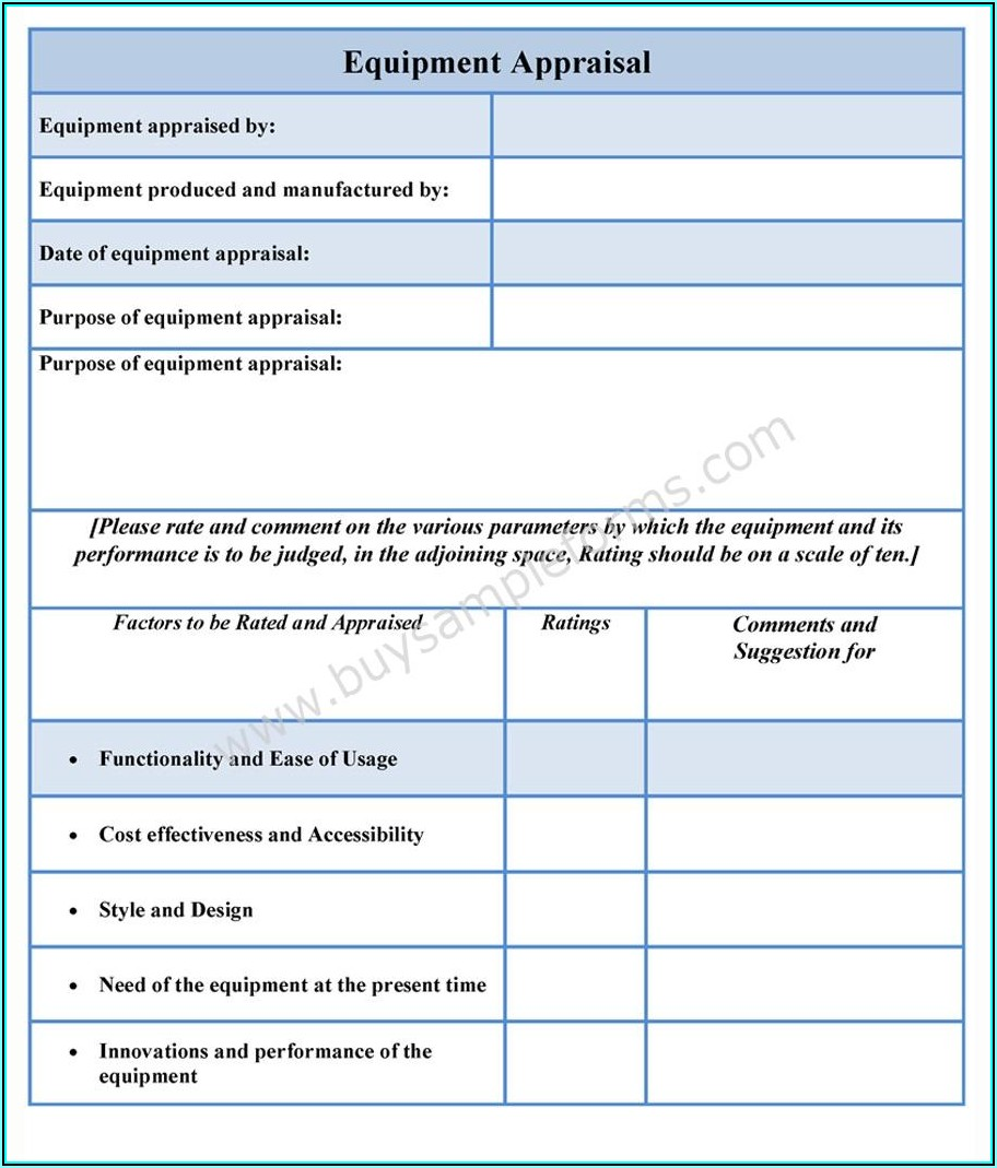 Used Car Appraisal Form Free Download