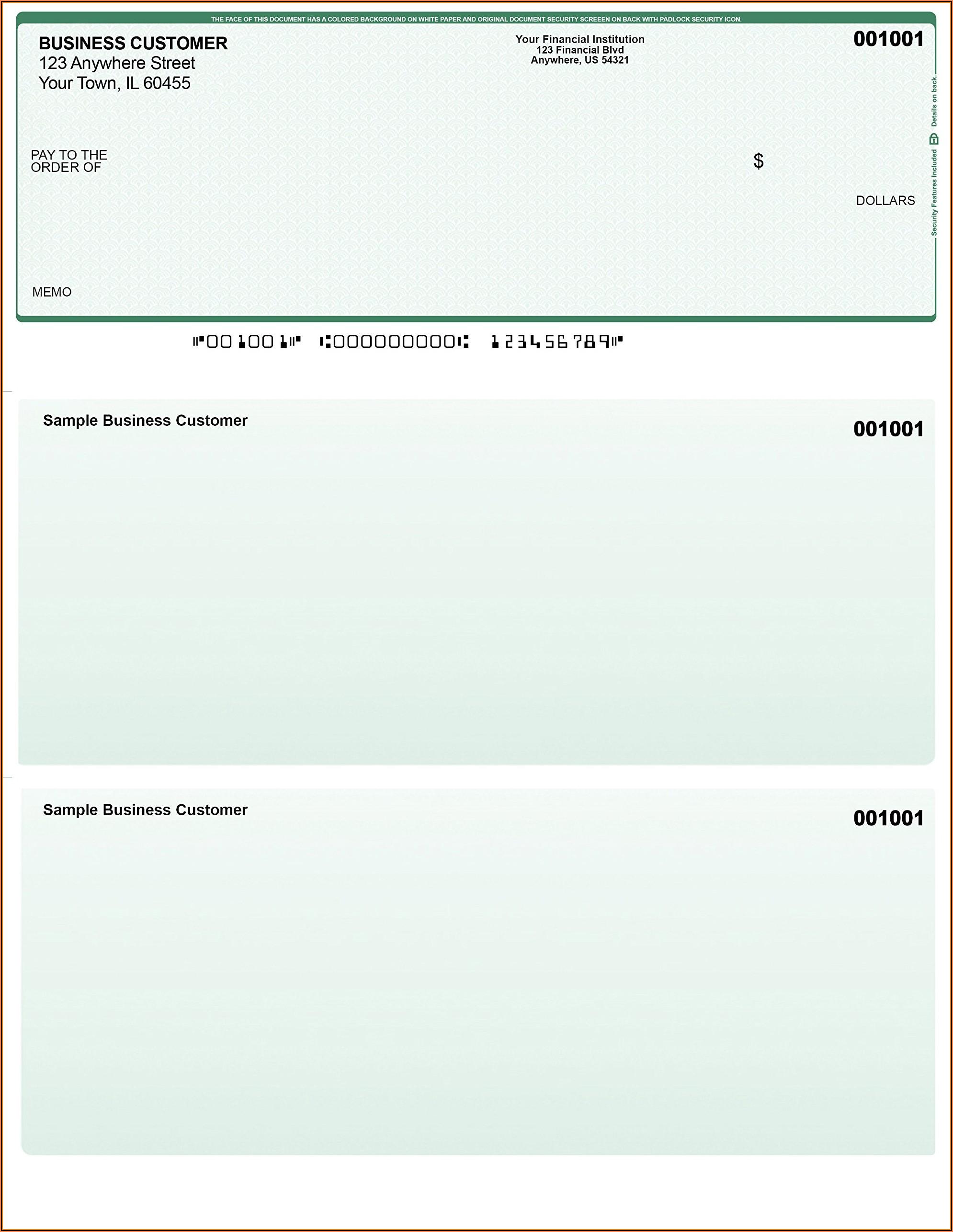 Versacheck Paper Form 1000