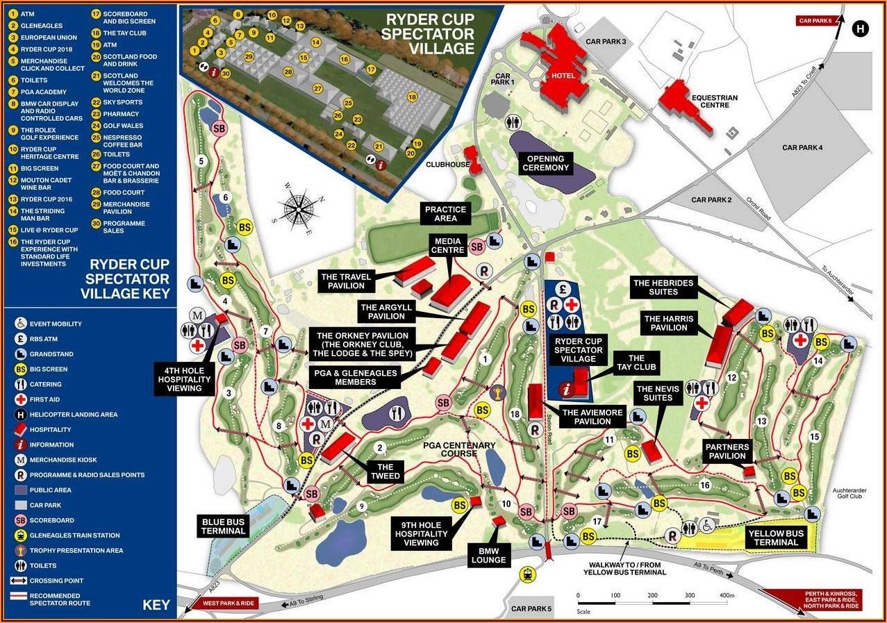 Where Is Gleneagles Golf Course In Scotland Map