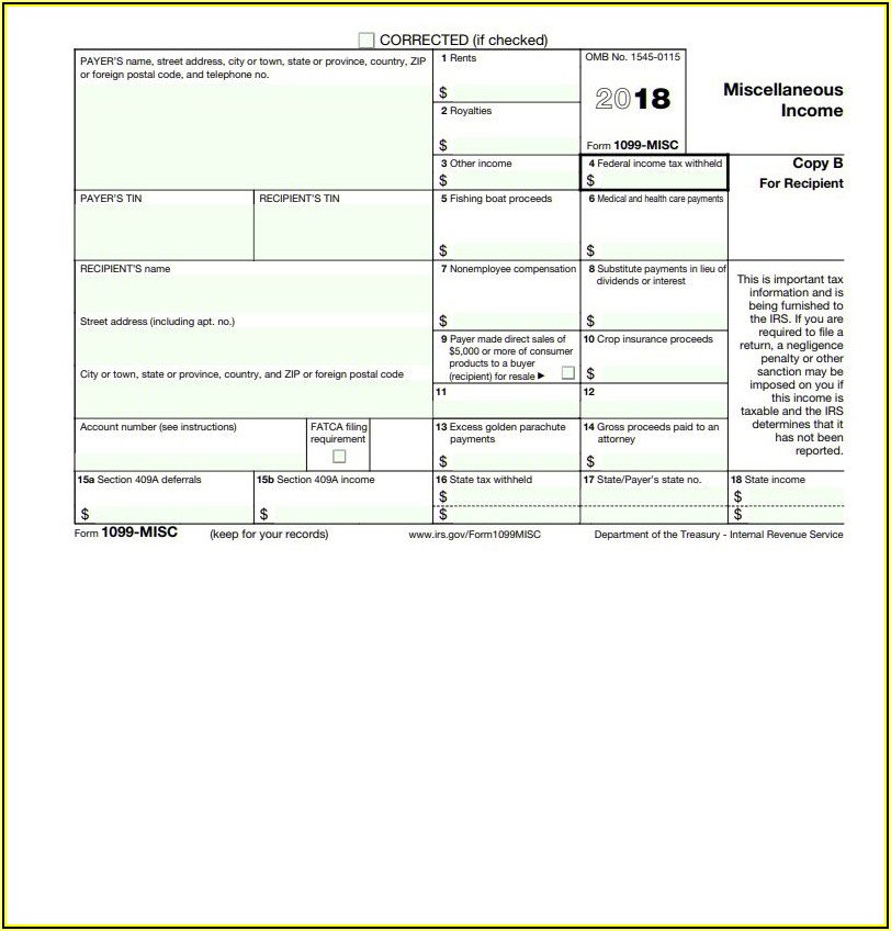 Where To Buy 1099 Misc Forms 2018