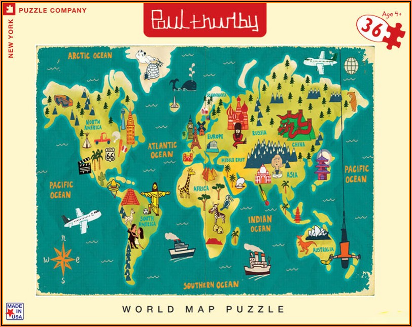 World Map Jigsaw Puzzle Printable